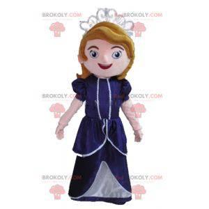 Kreslený maskot princezna královna - Redbrokoly.com