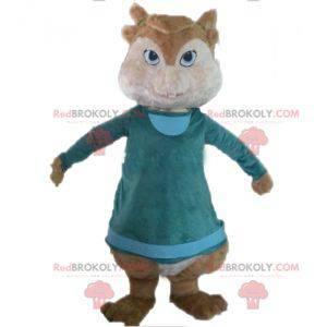 Maskot hnědé veverky Alvin a Chipmunkové - Redbrokoly.com