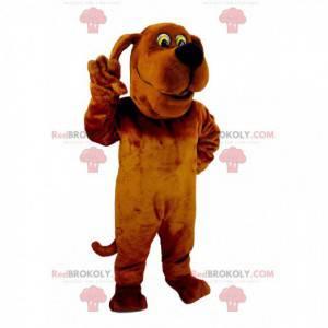 Funny and original brown dog mascot - Redbrokoly.com