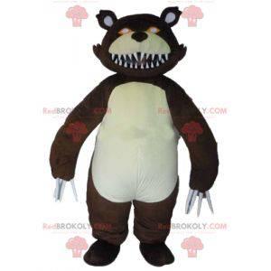 Wildes Grizzlybärenmaskottchen mit großen Krallen -