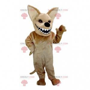 Maskotka brązowy chihuahua z dużymi ustami - Redbrokoly.com