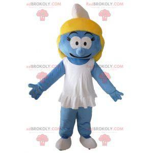 Smurfette maskot fra den berømte tegneserien The Smurfs -