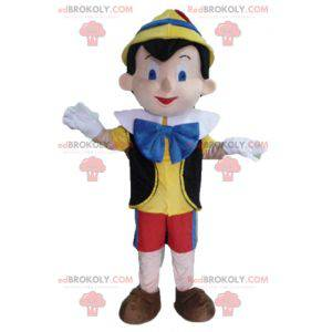 Mascot Pinocho personaje de dibujos animados famoso -