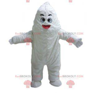 Riesiges und lächelndes weißes Monster-Maskottchen Yeti -