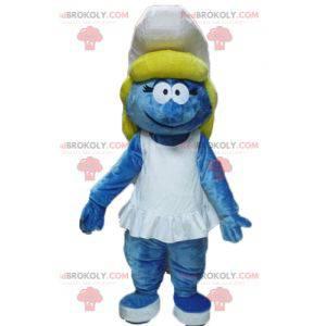 Smurfette maskot fra den berømte tegneserie The Smurfs -