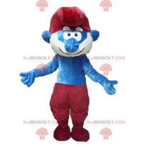 Papá Pitufo mascota de personaje de cómic famoso -