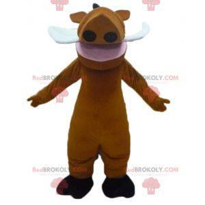 Pumba mascote famoso javali do desenho animado O Rei Leão -