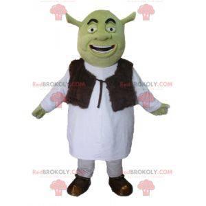 Shrek, o famoso desenho animado ogro mascote verde -