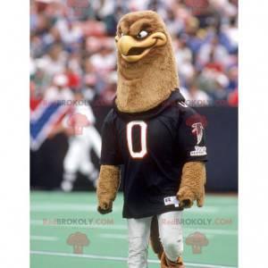 Hnědý sup maskot ve sportovním oblečení - Redbrokoly.com