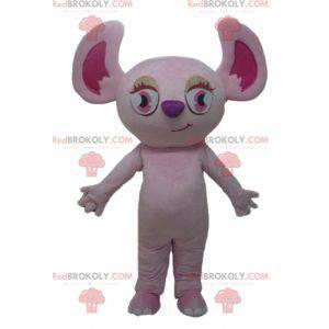 Růžová koala maskot růžová veverka - Redbrokoly.com