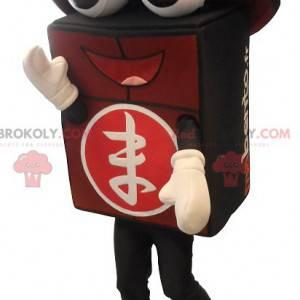 Obří černý a červený maskot bento - Redbrokoly.com