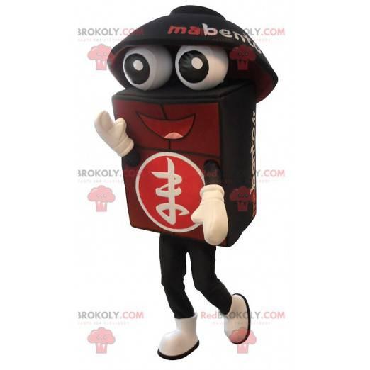 Gigantyczna czarno-czerwona maskotka bento - Redbrokoly.com