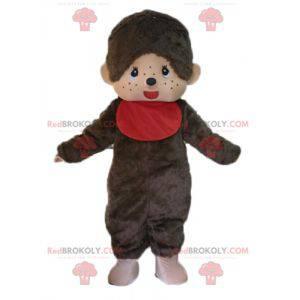 Maskotka Kiki słynna brązowa małpa z czerwonym śliniakiem -