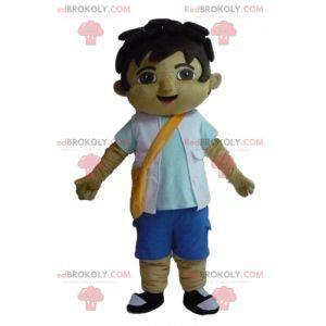 Teenager boy mascot with a shoulder bag - Redbrokoly.com