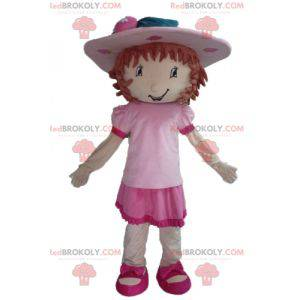 Mascot Charlotte aux Fraises famous pink girl - Redbrokoly.com