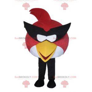 rot-weißes Vogelmaskottchen aus dem berühmten Spiel Angry Birds