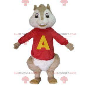 Mascotte van de bruine eekhoorn Alvin en de Chipmunks -