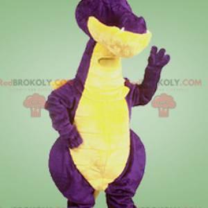 Obří fialový a žlutý drak maskot - Redbrokoly.com