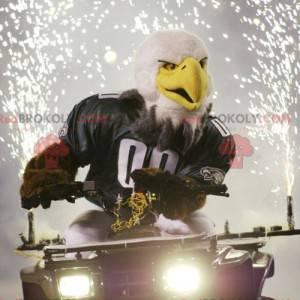 Bílý a hnědý maskot orla ve sportovním oblečení - Redbrokoly.com