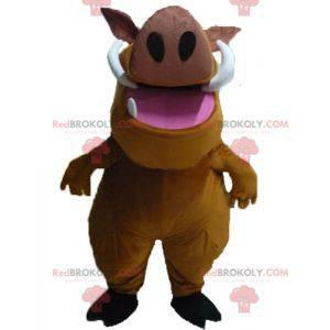 Pumba mascotte beroemde wrattenzwijn uit de tekenfilm The Lion