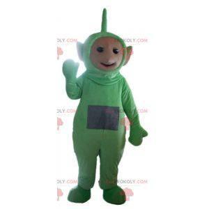 Dipsy mascota los famosos Teletubbies verdes de dibujos
