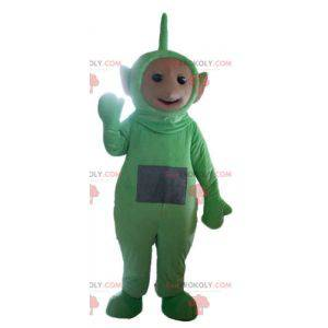 Mascote Dipsy, o famoso desenho animado verde Teletubbies -