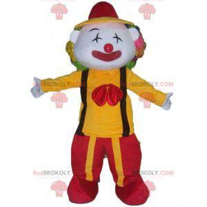 Mascote palhaço com roupa vermelha e amarela - Redbrokoly.com