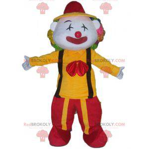 Mascotte pagliaccio in abito rosso e giallo - Redbrokoly.com
