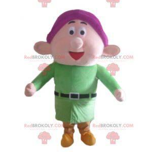 Mascot Dopey berømte dværg Snehvide - Redbrokoly.com