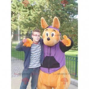 Walibi oranžový klokan maskot - Redbrokoly.com
