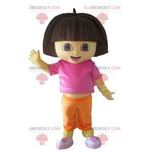 Dora, a exploradora, mascote da menina dos desenhos animados