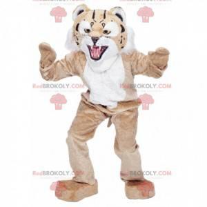 Maskottchen des beige und weißen Gepardenleoparden -
