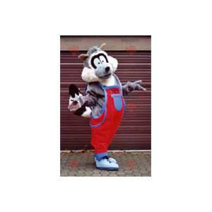 Raccoon maskot i kjeledress - Redbrokoly.com
