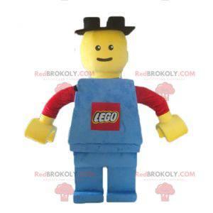 Stor Lego maskot rød gul og blå - Redbrokoly.com