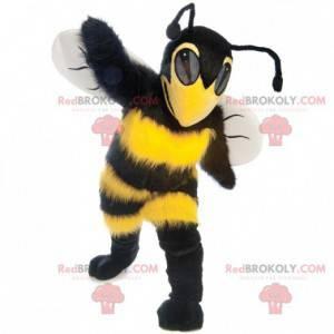 Beautiful yellow and black wasp bee mascot - Redbrokoly.com