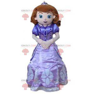 Prinzessin Maskottchen in einem hübschen lila Kleid -