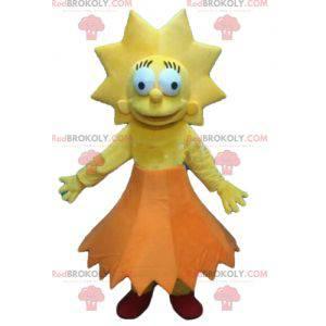 Lisa Simpson maskot slavná dívka ze série Simpson -