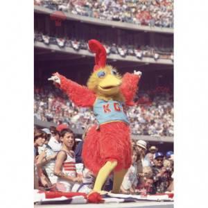 Alles haarige rote und gelbe Vogelmaskottchen - Redbrokoly.com