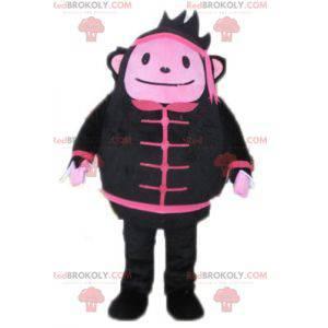 Černá a růžová maskot opice - Redbrokoly.com