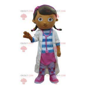 Doktor sestra dívka maskot v bílém plášti - Redbrokoly.com