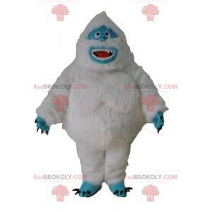 White yeti mascot and blue hairy monster - Redbrokoly.com