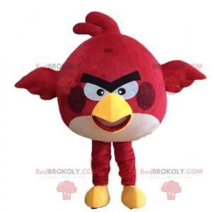 Rød fuglemaskot fra det berømte spillet Angry birds -