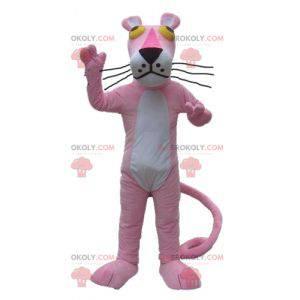 Růžový panter maskot kreslená postavička - Redbrokoly.com