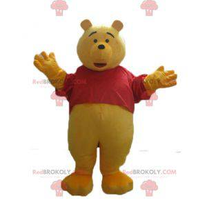 Winnie de Poeh mascotte beroemde cartoon gele beer -