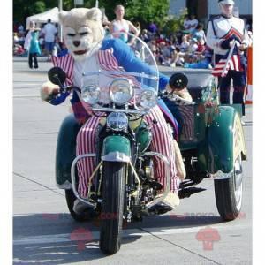 Mascot feline tiger in republican clothes - Redbrokoly.com
