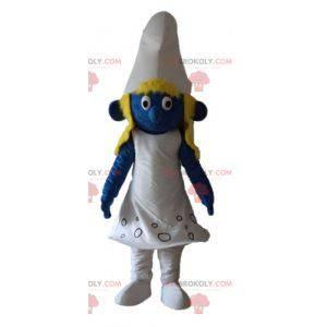 Schlumpfine Maskottchen aus dem berühmten Comic The Smurfs -