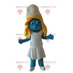 Mascote Smurfette da famosa história em quadrinhos Os Smurfs -