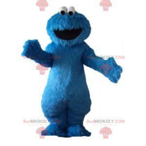 Mascota de Elmo famoso personaje azul de Barrio Sésamo -