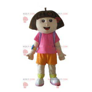Dora la exploradora famosa mascota de niña de dibujos animados