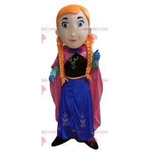 Rødhåret prinsessepike maskot med fletter - Redbrokoly.com